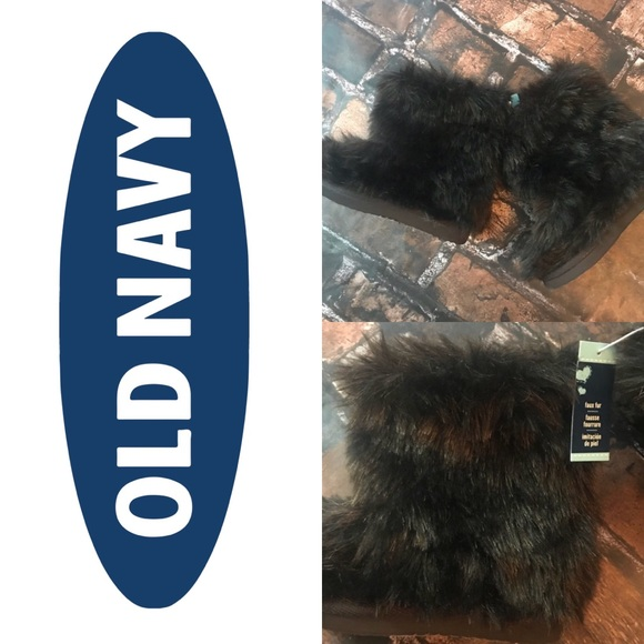 Old Navy Other - Old Navy NWT Brown Fur Boots